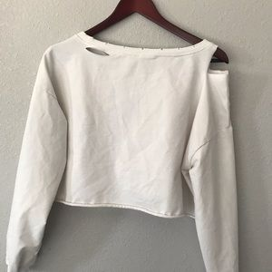 Forever 21 Tops - Forever 21 distressed cropped sweatshirt